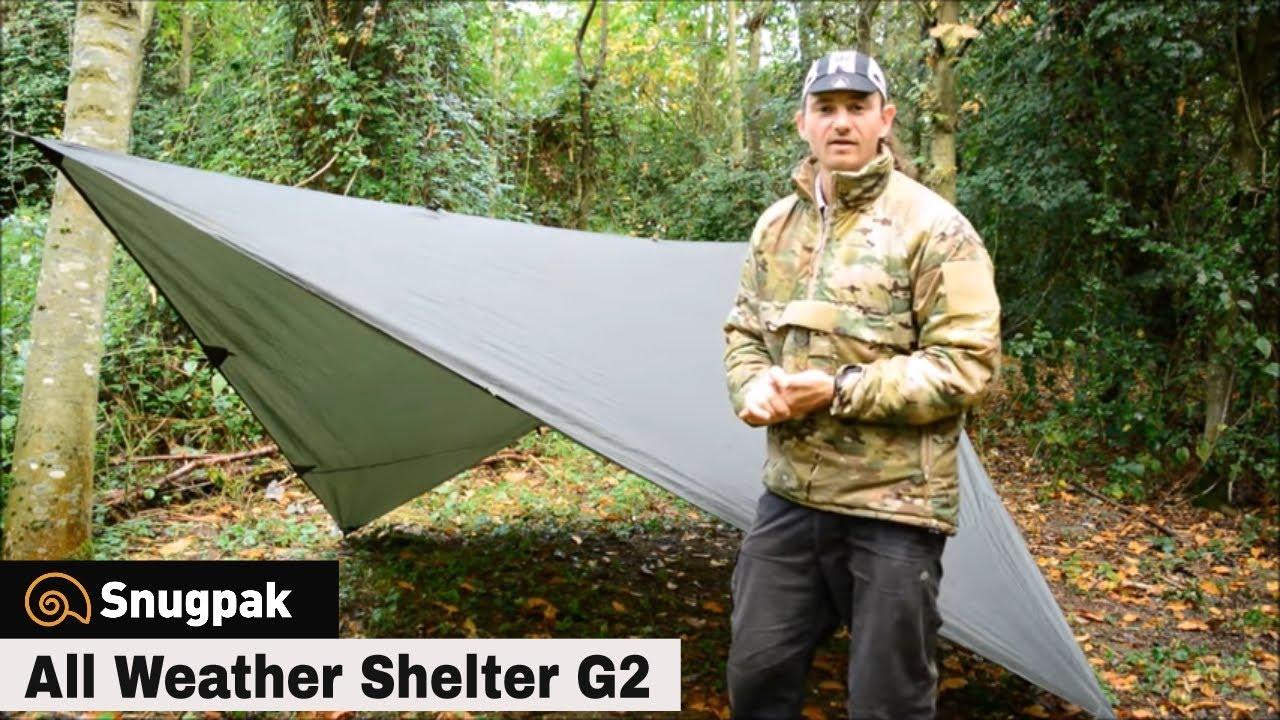 Guy cordes et chevilles Snugpak All Weather Shelter Tarp Shelter avec Stuff Sack