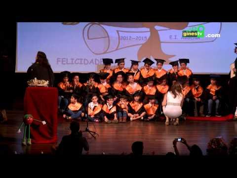 Graduación del alumnado de cinco años del colegio Abgena 2015