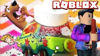 ROBLOX CRUSHING SCOOBY DOO VAN! CAR CRUSHERS 2 (Lets Play Gaming Video)