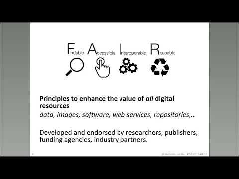 RDA Webinar with Dr. Michel Dumontier: FAIR principles