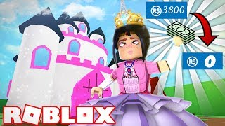 COST ALL MIS ROBUX IN THIS HOUSE OF PRINCESS - Roblox Meepcity