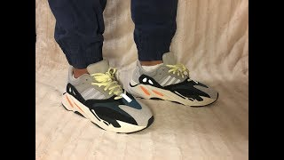 04432a2e5dc Adidas Boost Yeezy 700 Wave Runner On Feet ...