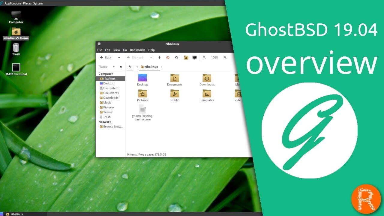 GhostBSD 19 04 overview   A simple, elegant desktop BSD Operating System