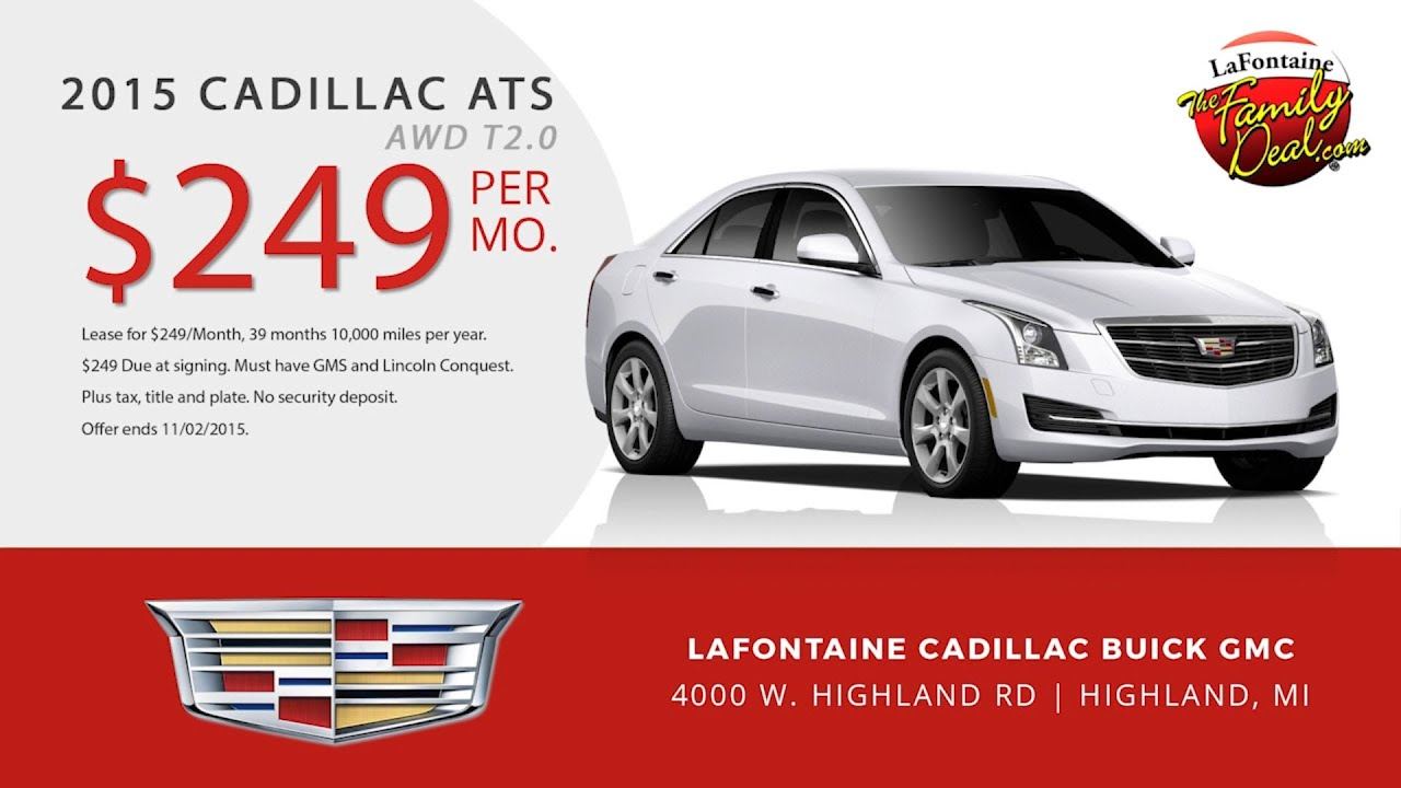 cadillac deals and sedan offers of special novi ats lease specials