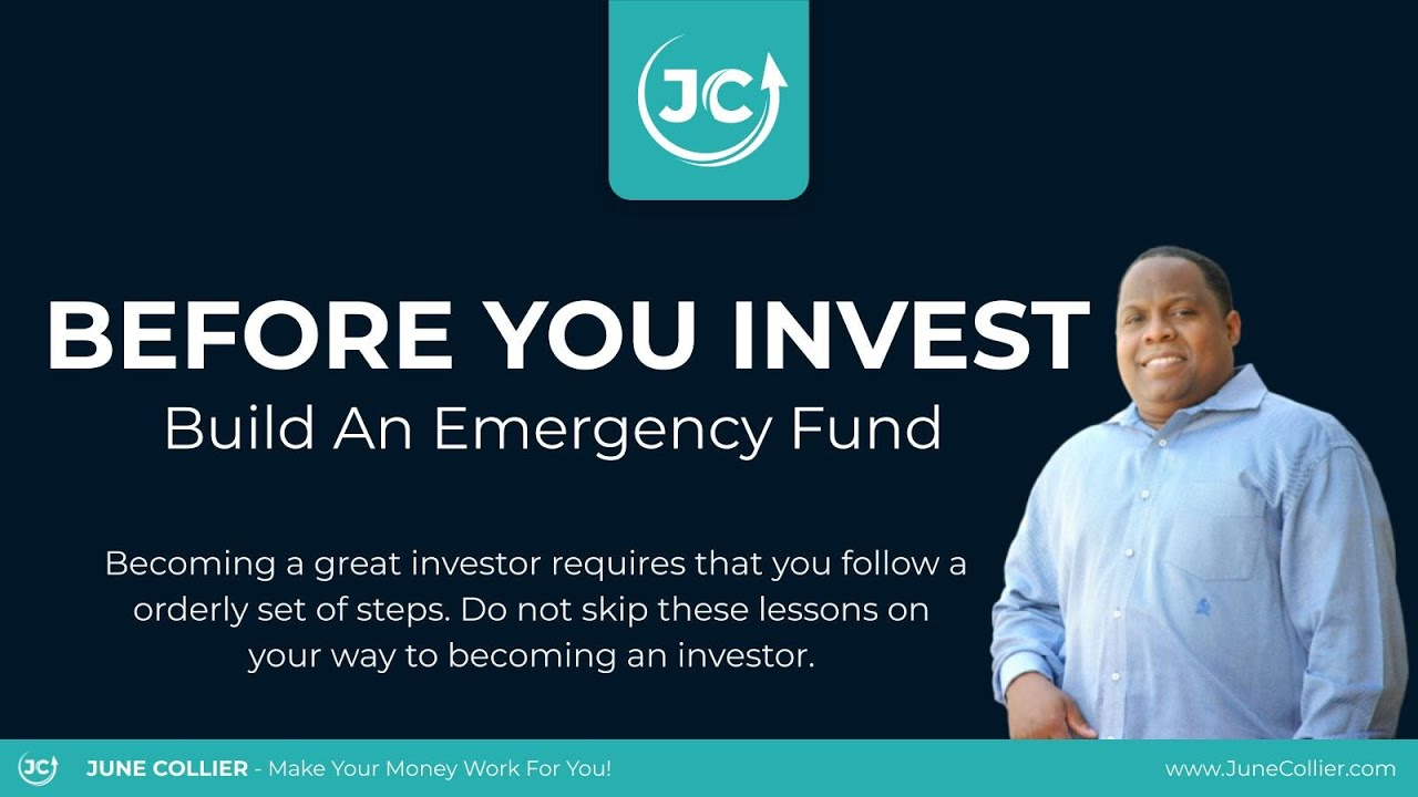 Before You Invest - Build An Emergency Fund