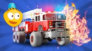Fire Brigade's Monster Trucks - Cartoon for kids about Emergency Monster Fire Truck | New Episode 3