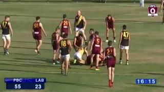 Barry Hall allegedly caught striking opponent twice in QAFL grand final