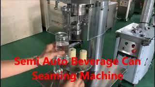 세미 자동 음료 수 씰링 기계, 알루미늄 플라스틱 캔 …