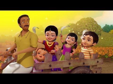 பொங்கலோ பொங்கல் என்போம் | Tamil Rhymes for Children | Infobells