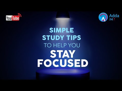 Simple Study Tips To Help You Stay Focused |  Online Coaching for SBI IBPS Bank PO