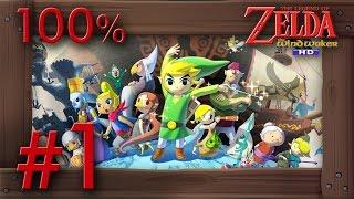 Zelda The Wind Waker HD 100% Walkthrough Part 1 | Intro & Outset Island (1080p 60fps Wii U Gameplay)