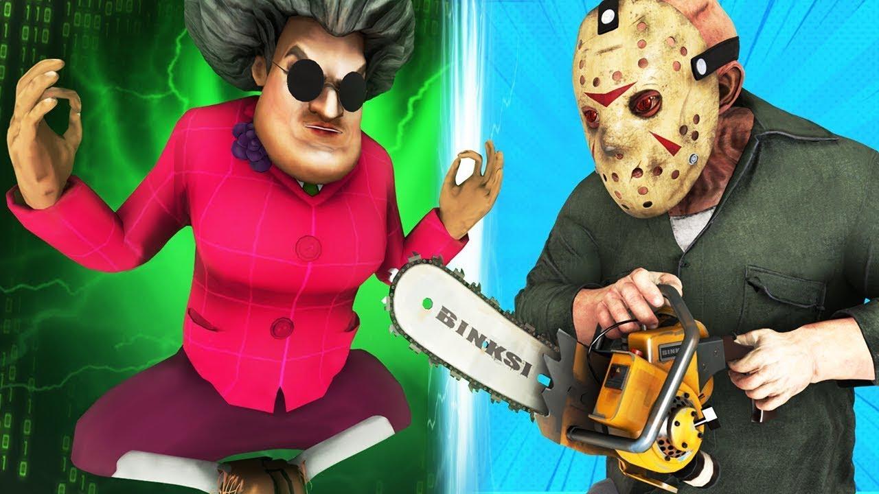 Scary Teacher vs Jason Voorhees (Español Maestra T Viernes 13 | Friday 13 Terror Parodia Animada 3D)