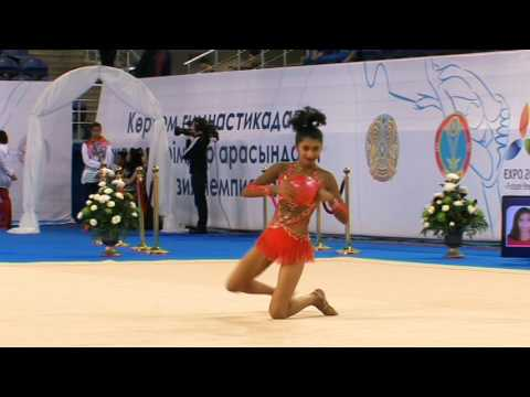 Krisha Chheda -14 th Junior Asian Games of Rhythmic Gymnastics ( Ball ) at Kazakistan