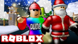 SANTA ESCAPES PRISON ! (A Roblox MOVIE)
