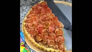 พายแอปเปิ้ลดอกกุหลาบ Rose apple pie