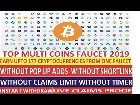 TOP Multi Coins Faucets 2019 Earn Upto 177 Cryptocurrencies From One Crypto Faucet 2019 Btc 2019