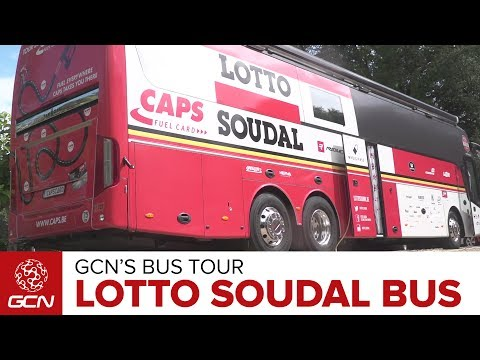Lotto Soudal Cycling Team Bus | GCN's Bus Tours