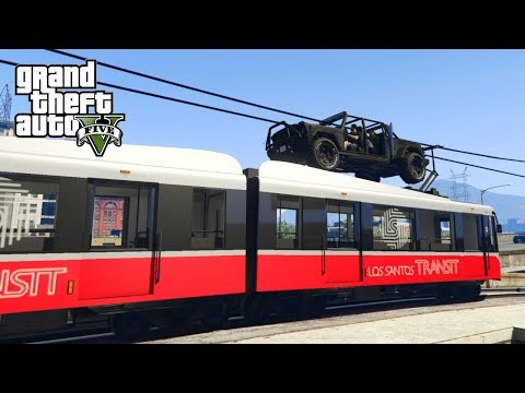 GTA V Freeroam - AUTO OP DE METRO!