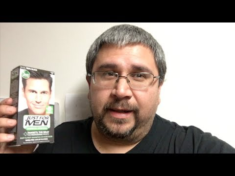 Just For Men Hair Dye Results From Grey To Black Youtube