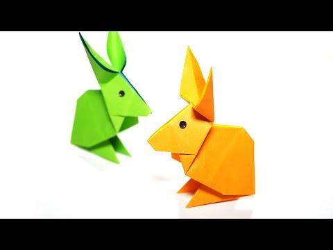 Origami Rabbit - Paper Folding / Papier Falten / 종이접기 - Paper Crafts 1101 おりがみ