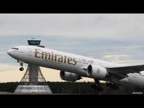 Windy morning,arrivals & departures at Newcastle Airport (Oct 2017)