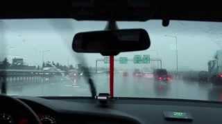 Антидождь Аквагель, тест во время дождя