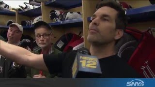Dan Boyle of the Rangers curses out reporters