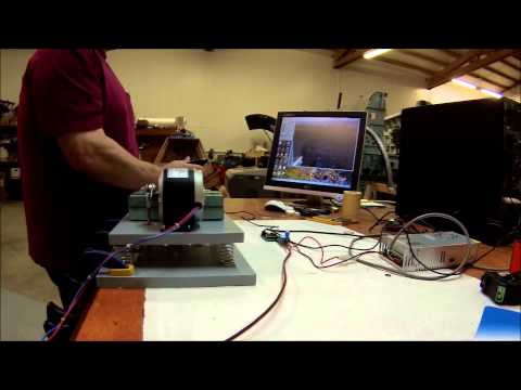 Flight simulator vibration feedback system demo using SHKR-1 control board.