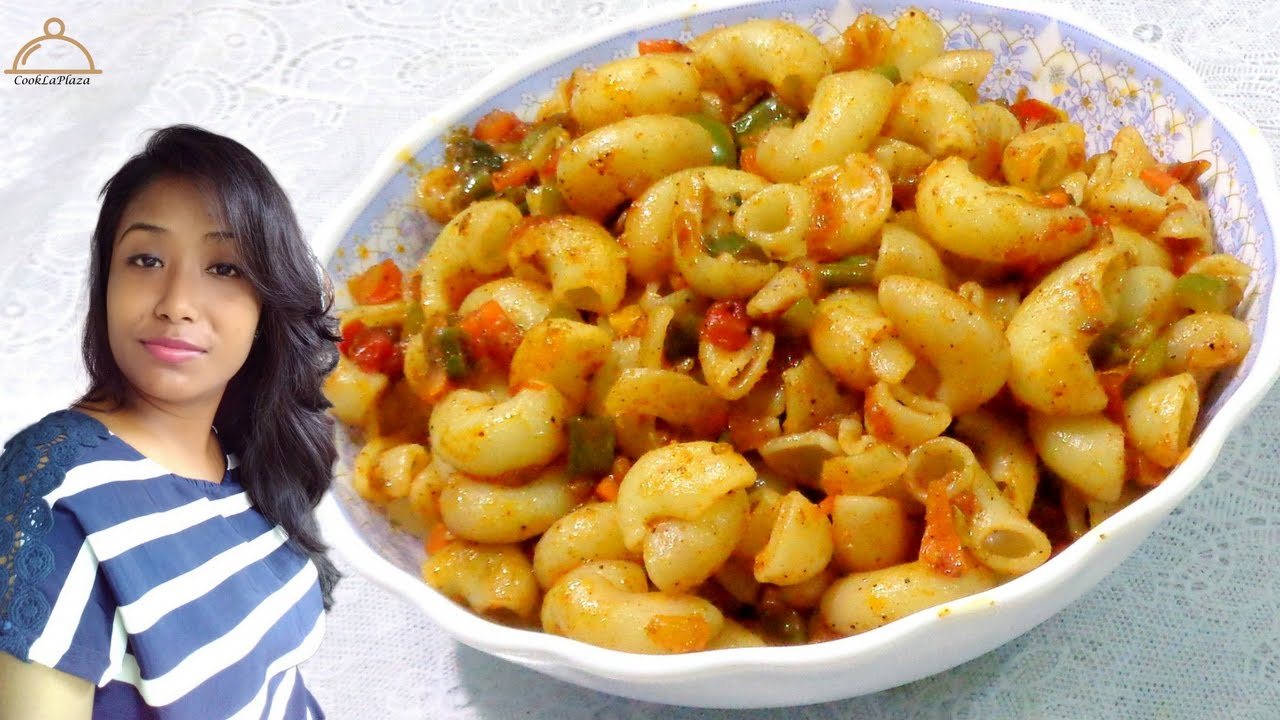 Indian Style Macaroni Pasta Recipe-Spicy Masala Pasta -Quick & Easy Masala Pasta-Veg Pasta in ...