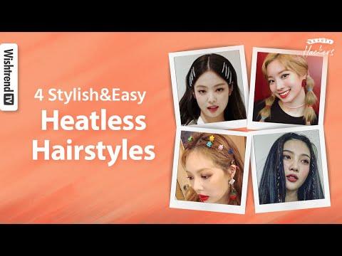 Try K-pop Idol Hair HACKs✨ | 4 Heatless & Easy Hairstyles for Summer thumbnail