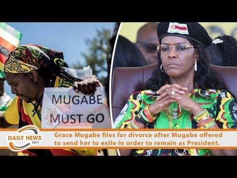 Grace Mugabe files for divorce Mugabe.