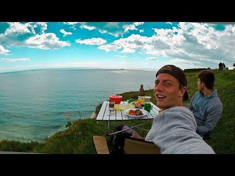 Mittagessen direkt an den Klippen   White Cliffs of Dover