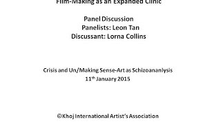 Crisis and Un/Making Sense : Lorna Collins in conversation with Leon Tan