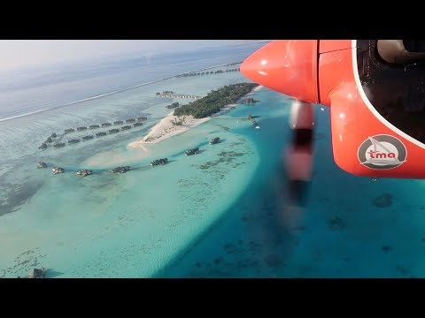 Maldives seaplane transfer from Soneva Jani to Male