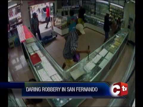 Police Search For Bandits In Daring Jewellery Heist In San Fernando