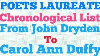 Poets Laureate of Great Britain | Chronological List of Poets Laureate | For TGT, PGT, UGC - NET