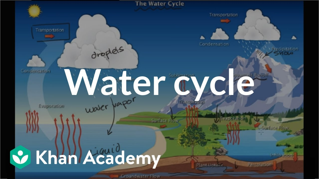 The water cycle (video) | Ecology | Khan Academy