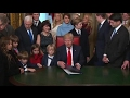 Trump signs executive orders as first official act