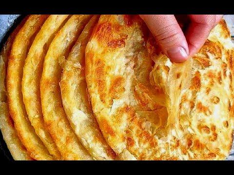 手抓饼最正宗的做法,掌握这个和面技巧,外酥里软,比买的还好吃