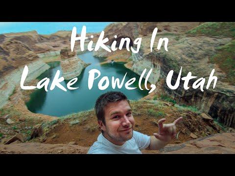 Extreme Hiking In 50 Mile Creek Lake Powell