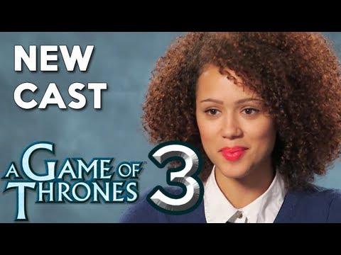 Game of Thrones Season 3 New Cast : Nathalie Emannuel, Clive Russell, Richard Dormer  ENTV
