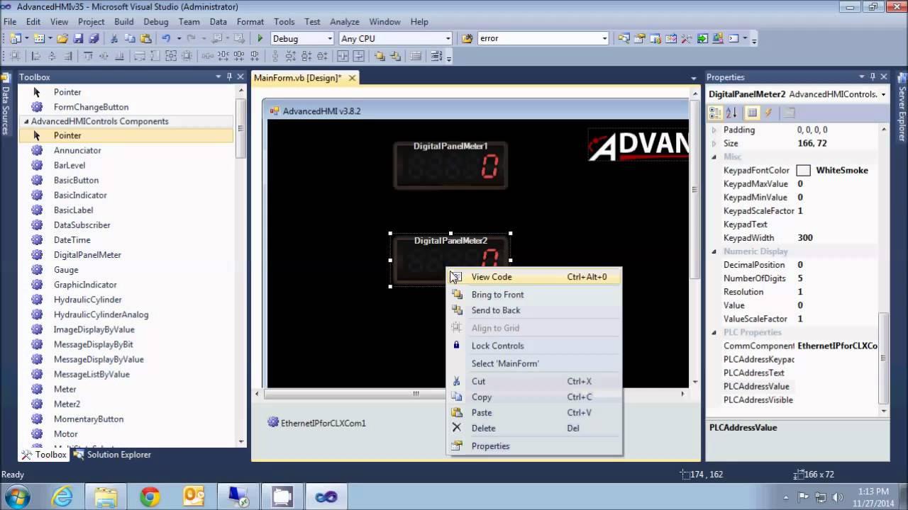 advancedHMI with LOGIX 5000 PLC