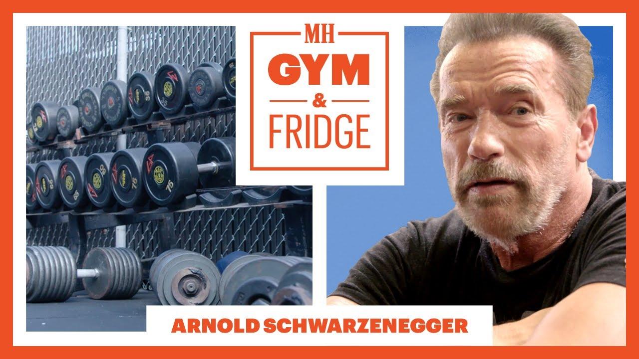Download Arnold Schwarzenegger Shows His Gym & Fridge | Gym & Fridge | Men's Health