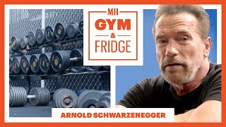 Arnold Schwarzenegger Shows His Gym & Fridge | Gym & Fridge | Men