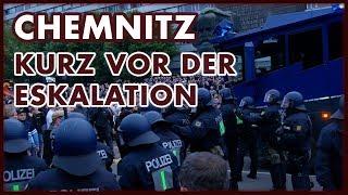 #Chemnitz zwischen friedlicher Demonstration und Ausschreitungen.