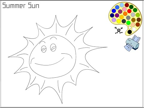 Sun Coloring Pages For Kids - Sun Coloring Pages - YouTube