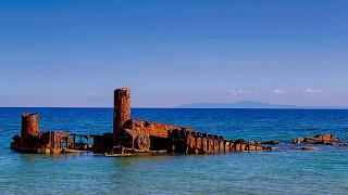 Greece by Greeks: Biking at Epanomi Shipwreck Potamos beach (Ναυάγιο Επανομής)