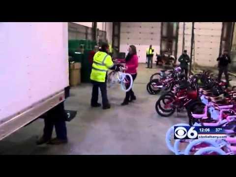 Saratoga Co. waste employees donate bikes