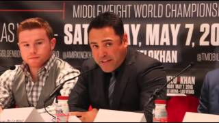 Canelo Alvarez  vs Amir Khan  (London Press Conference)  Part 1
