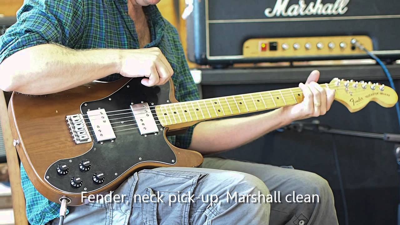 comparison lollar regal creamery extra width and u002778 fender telecaster deluxe wide range pickups youtube
